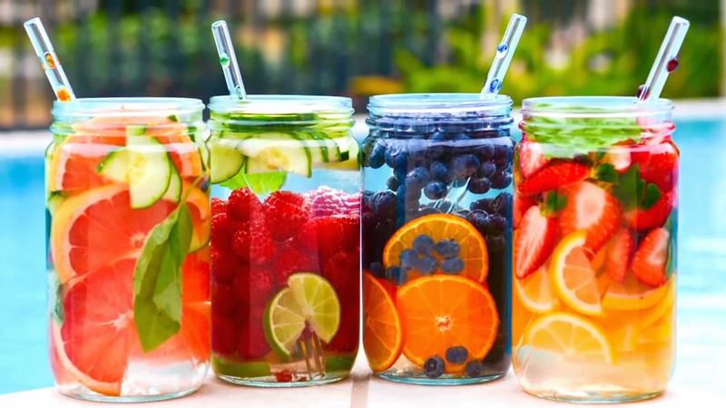 I am in love with summer. What's you like drinking this summer? Fruit water?