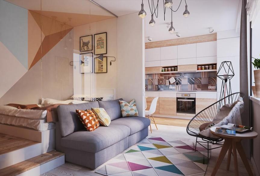 50 M Small Apartment Interior Design Idea Hug Your Like