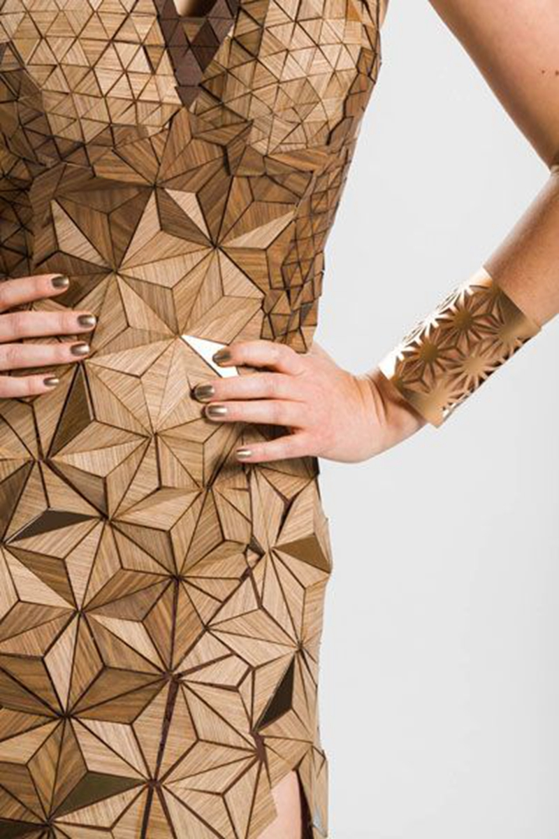 wood material for fashion dress