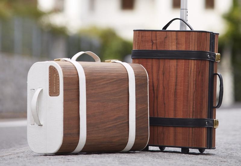 Wood luggage