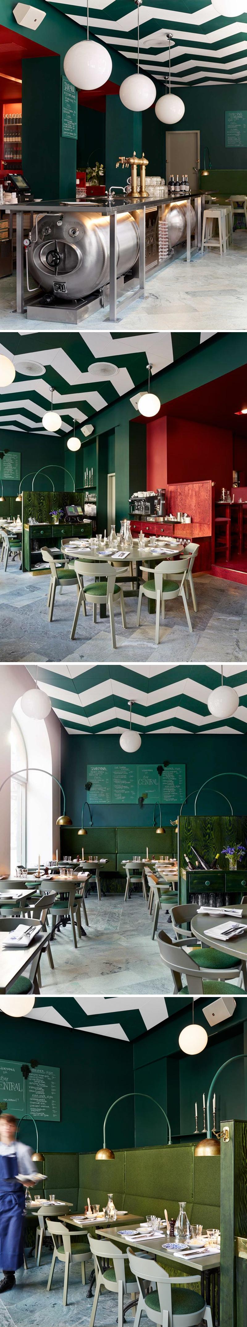 Green Interior Design In Cafe Shop Hug Your Like