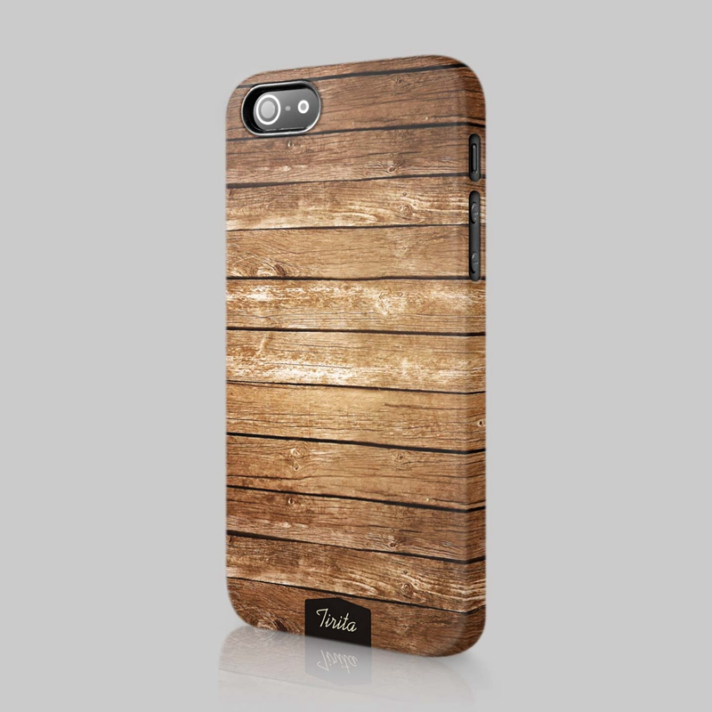 Fashion phone cover with wood material