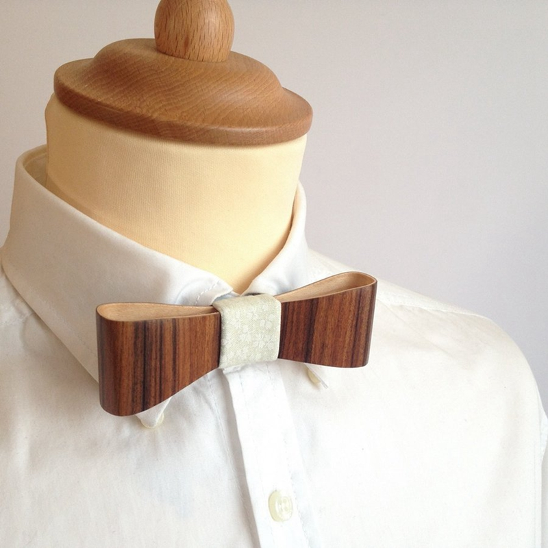 Fashion design cloth in wood bow tie